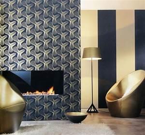 Schwarz Gold Tapete : karim rashid designer tapete retro vlies vliestapete gold schwarz 3 70eur m ~ Yasmunasinghe.com Haus und Dekorationen