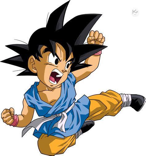 Son Goku Kid Dbgt Goku Anime Son Goku