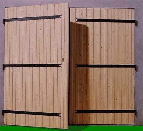 porte de garage deux ventaux bois alu  pvc crystal