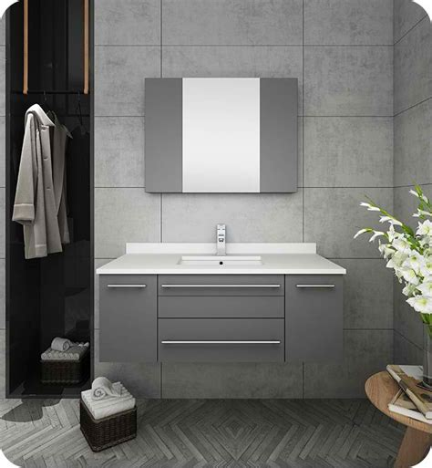 fresca lucera  gray wall hung undermount sink modern