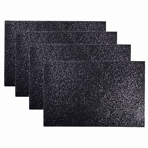 Set Of 4 Christmas Sparkly Glitter Place Mats Dinner Table