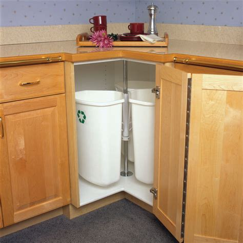 kitchen cabinet recycling center knape vogt rotary recycling center for kitchen base 5681