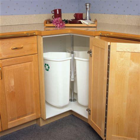 kitchen cabinet recycling center knape vogt rotary recycling center for kitchen base