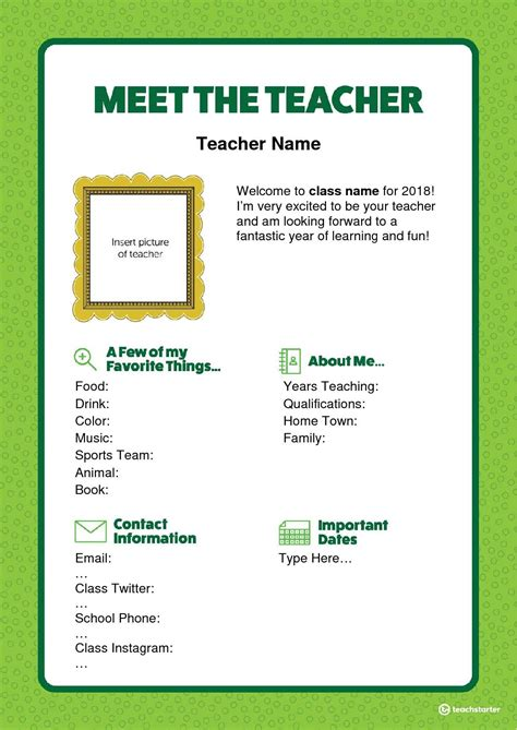 meet  teacher letter editable word version teaching
