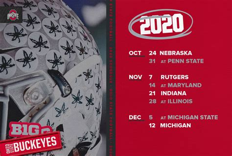 Eight-Game, 2020 Ohio State Football Schedule Announced