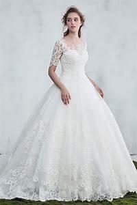 Robe Mariage 2018 : vintage robe de mari e princesse 2018 avec manches guipure ~ Melissatoandfro.com Idées de Décoration