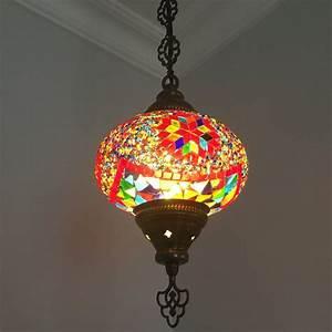 Turkish Lamp Light Bulb Size Turkish Handmade Mosaic Hanging Lamp Large Globe