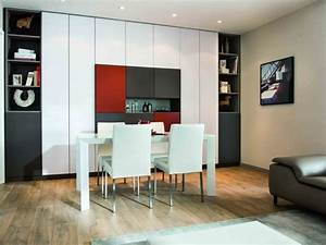 salle a manger avec grand meuble de rangement colore With meuble de rangement salle a manger