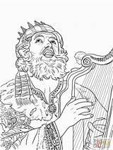 David Coloring King Pages Harp Playing Bible Printable Bathsheba Clip Saul Colouring Sheets Supercoloring Worksheets Honthorst Gerard Van Jonathan Rey sketch template