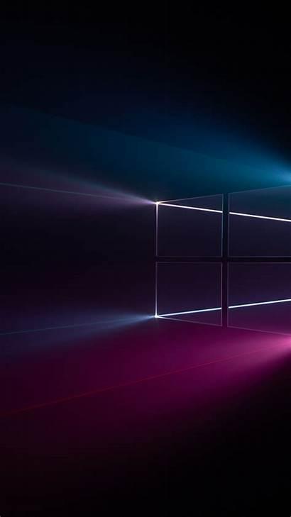 Wallpapers Windows Dark Mobile Update Microsoft 1080p