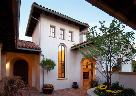 spanish colonial mediterranean architecture revival stucco window designs  homes style