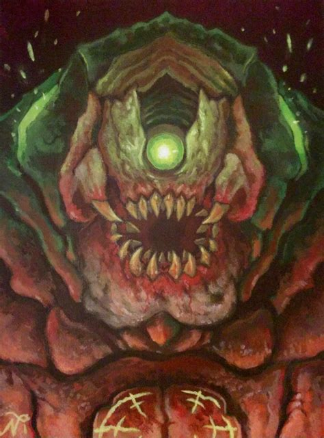 Doom Mancubus Painting By Xous54 On Deviantart