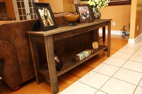 reclaimed wood sofa table reclaimed oak sofa table rustic console tables