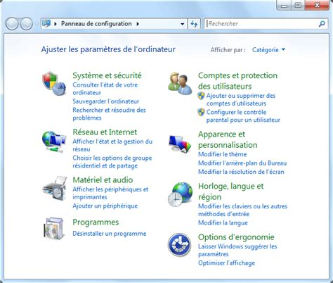 le loupe de bureau panneau de configuration windows 7 aidewindows