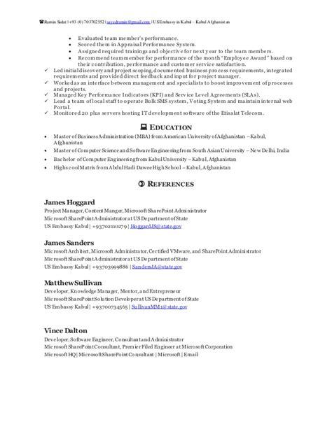 ramin sadat sharepoint resume
