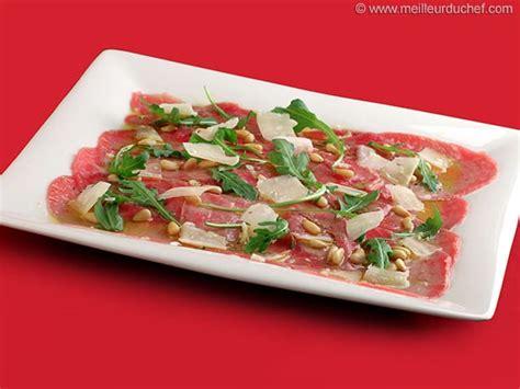 cuisine gastronomique carpaccio de bœuf fiche recette illustrée