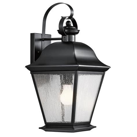 shop kichler lighting mount vernon 19 5 in h black outdoor