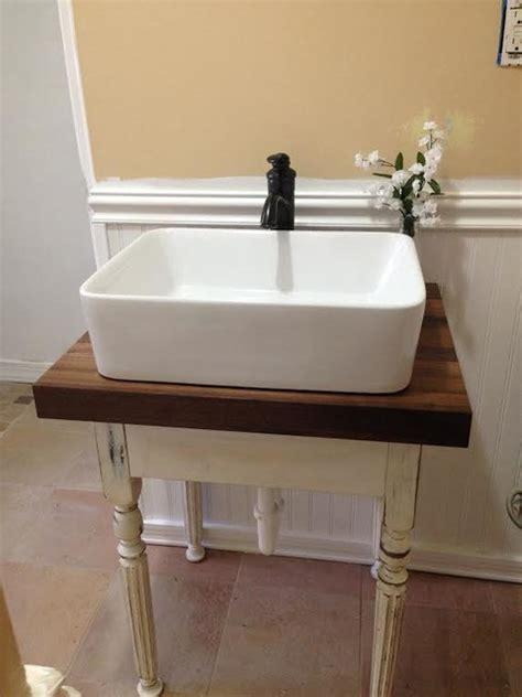 Bathroom Sink Blocked by Butcher Block Vanity Farmhouse Bathroom Vanities And