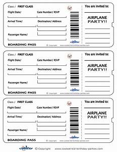 printable airplane boarding pass invitations coolest With pretend plane ticket template
