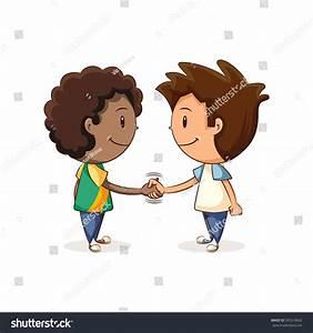 Handshake Children Vector Illustration Stock Vector ...