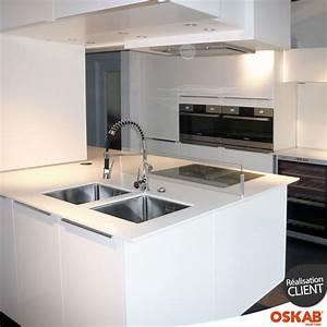 92 best images about cuisine equipee design oskab on With cuisine avec ilot central plaque de cuisson