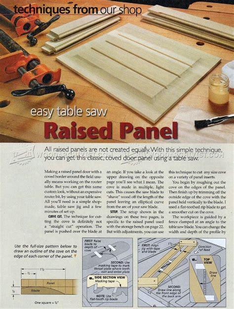 Raised Panels On Table Saw • Woodarchivist