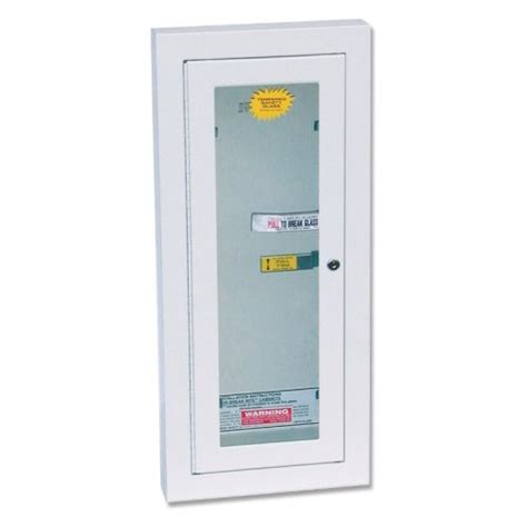 kidde 468047 potter roemer semi recessed 10 pound extinguisher cabinet with lock