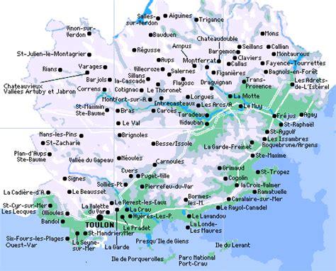Carte Du Var Avec Toutes Les Villes by Var Vacances S 233 Jours Activit 233 S De Loisir Et D 233 Couverte