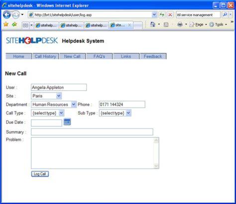 help desk call tracking software help desk software sitehelpdesk 7 8 screenshots