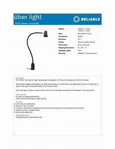 Uber Light 7000c  2 - 220v Manuals