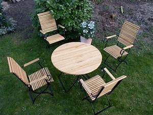 Gartenmöbel Set Runder Tisch : wetterfeste gartenm bel runder tisch klappbar metall robinie ~ Bigdaddyawards.com Haus und Dekorationen