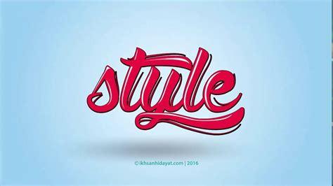 typography style logo illustrator tutorials youtube