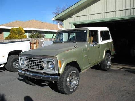 1973 jeep commando seller of classic cars 1973 jeep commando red black