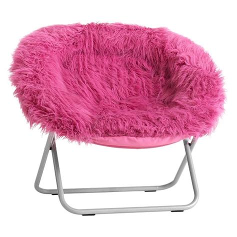 pink fur rific faux fur hang a chair pbteen