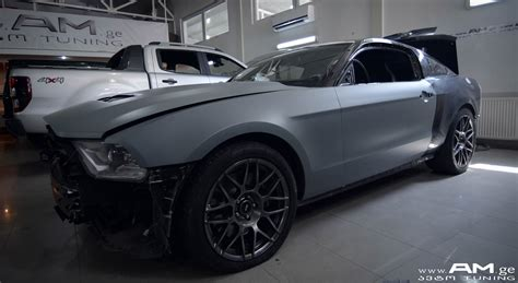 FORD MUSTANG GT 500 GREY MATT | Автовинил | AUTO.AM.GE