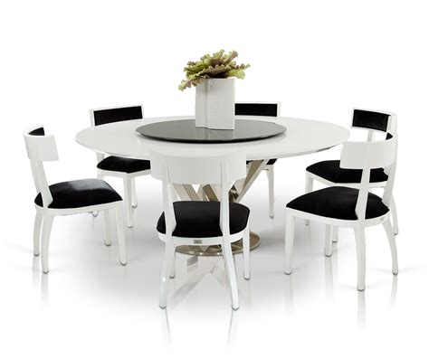 black and white dinner table setting modern round dining room table with 8 black and white