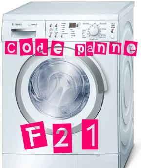 code f21 sur lave linge bosch maxx 7 l atelier 233 lectrom 233 nager