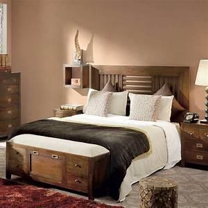 Lit En 90 : t te de lit une personne meuble colonial en bois exotique ~ Teatrodelosmanantiales.com Idées de Décoration