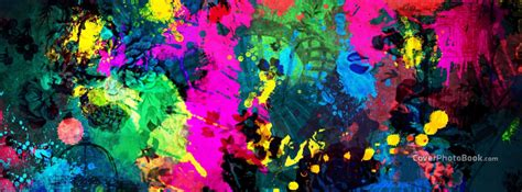 Colorful Covers by Colorful Paint Splatter Cover Abstract