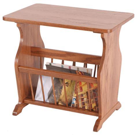 magazine rack table four seasons furnishings amish made furniture end table
