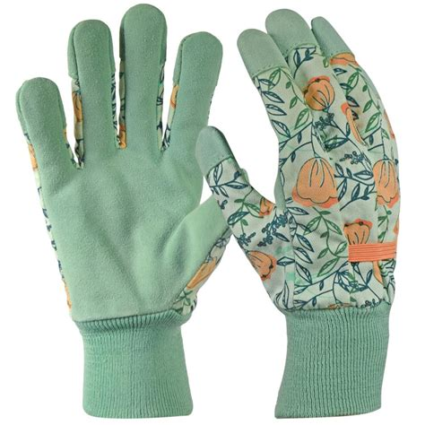 s gardening gloves s large garden gloves leather palm fabric yard