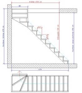 Dimension Escalier Droit Bois by Dimension Tremie 1 4 Tournant Haut