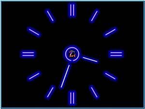 Moving clock screensaver software - Download free