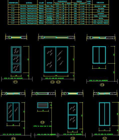 openings worksheet windows dwg block  autocad designs cad