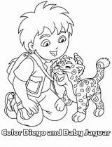 Diego Coloring Pages Jaguar Printable Go Baby Dora Cartoon Kleurplaat Kleurplaten Colouring Bestcoloringpagesforkids Prints Clip Little Popular Disney sketch template