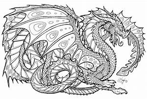 Free Printable Coloring Pages For Adults Advanced Dragons8