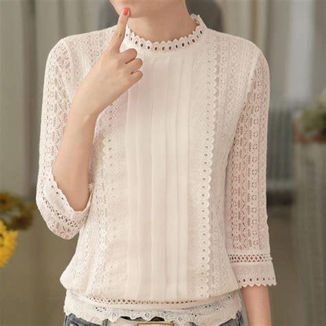 lace blouse aliexpress com buy autumn casual white lace blouse