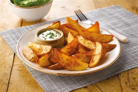 potato wedges crisp  dry rapeseed oil