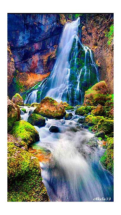 Nature Waterfall Animated Waterfalls Natural Places Animation