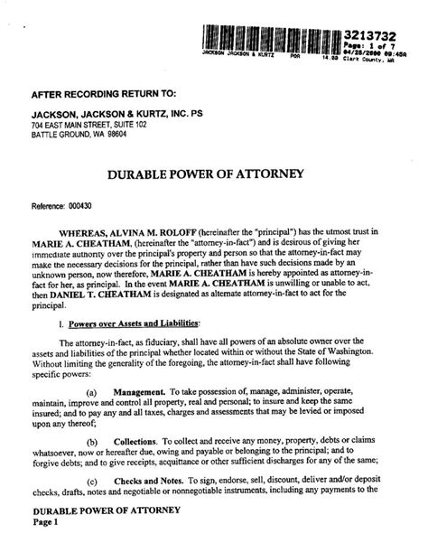 printable power of attorney forms printable sle power of attorney form laywers template